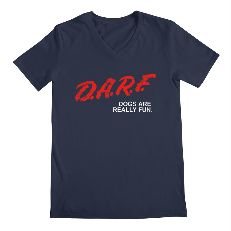D.A.R.F. Men's V-Neck by jublin's Artist Shop