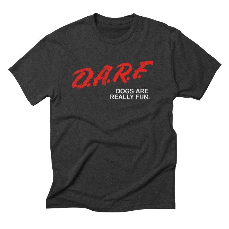 D.A.R.F. Men's Triblend T-shirt by jublin's Artist Shop