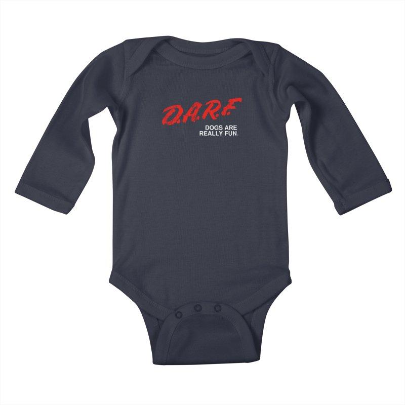 D.A.R.F. Kids Baby Longsleeve Bodysuit by jublin's Artist Shop
