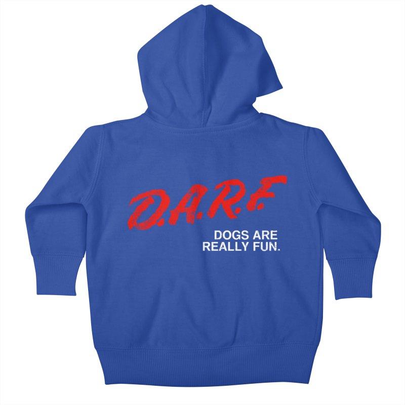 D.A.R.F. Kids Baby Zip-Up Hoody by jublin's Artist Shop