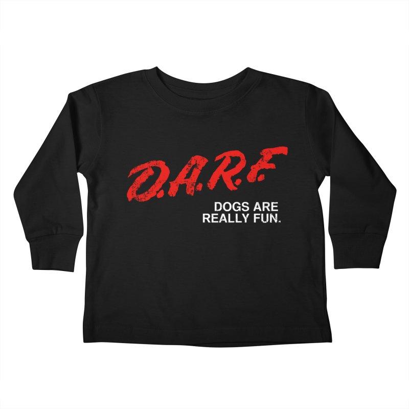 D.A.R.F. Kids Toddler Longsleeve T-Shirt by jublin's Artist Shop