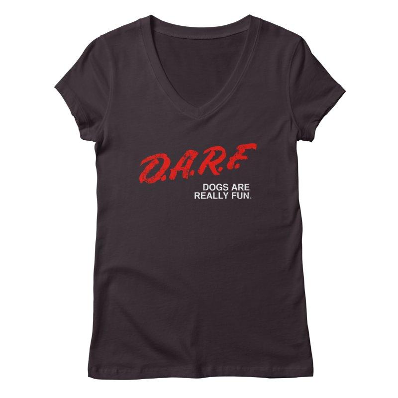 D.A.R.F. Women's V-Neck by jublin's Artist Shop