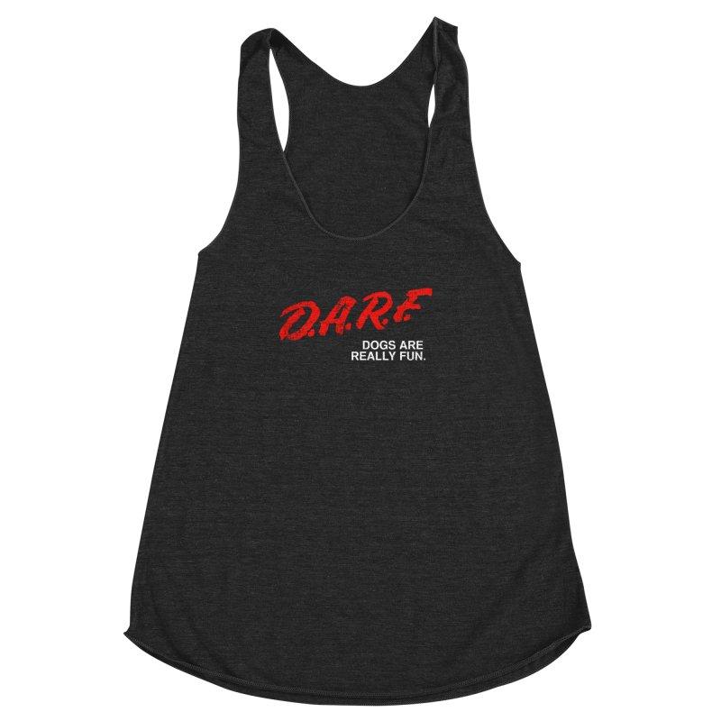 D.A.R.F. Women's Racerback Triblend Tank by jublin's Artist Shop