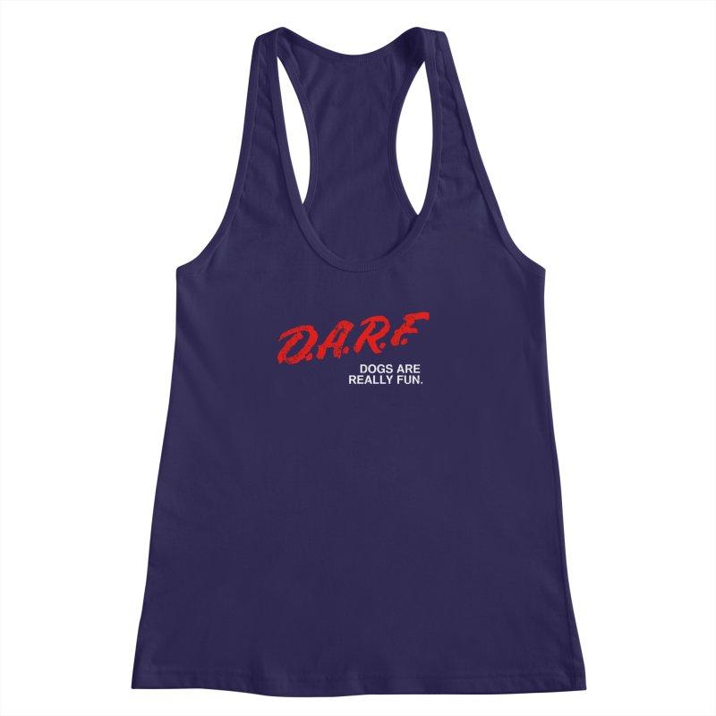 D.A.R.F. Women's Racerback Tank by jublin's Artist Shop