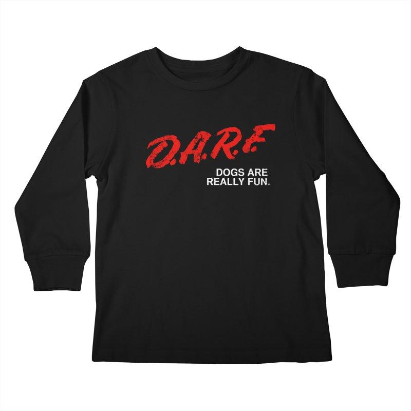 D.A.R.F. Kids Longsleeve T-Shirt by jublin's Artist Shop