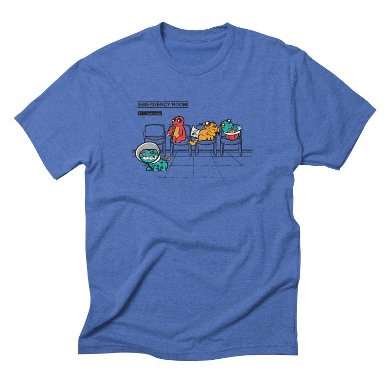 Emergency Room in Men's Triblend T-Shirt Blue Triblend by jublin's Artist Shop