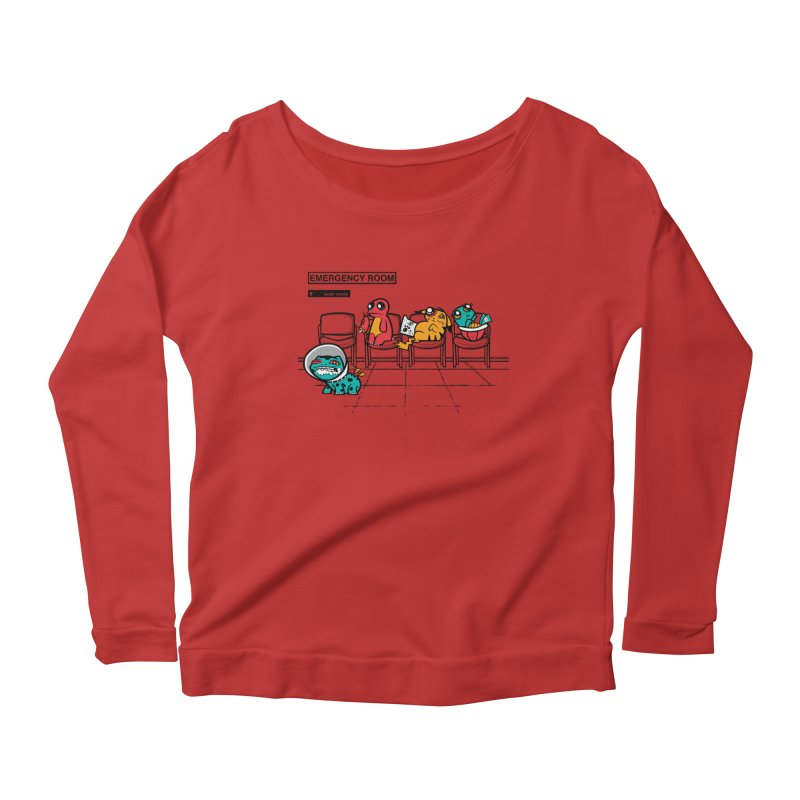 Emergency Room Women's Longsleeve Scoopneck  by jublin's Artist Shop