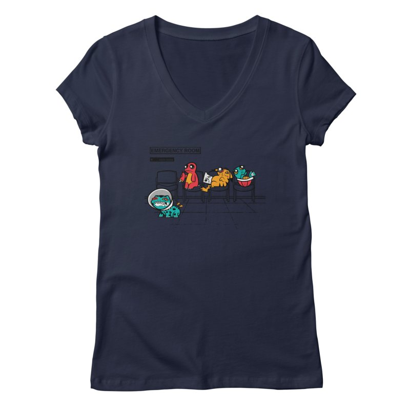 Emergency Room Women's V-Neck by jublin's Artist Shop