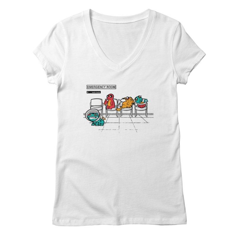 Emergency Room Women's V-Neck by jublin's Artist Shop