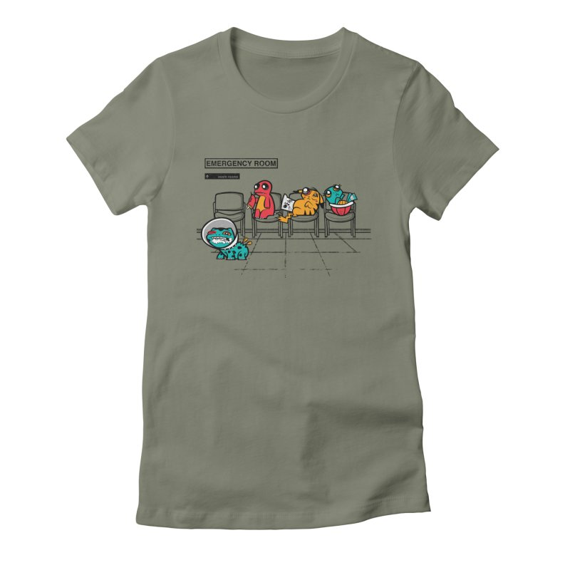 Emergency Room Women's Fitted T-Shirt by jublin's Artist Shop
