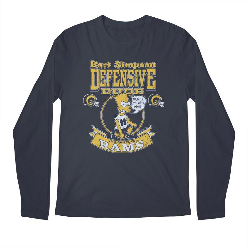 Bart + Rams Men's Longsleeve T-Shirt by jublin's Artist Shop