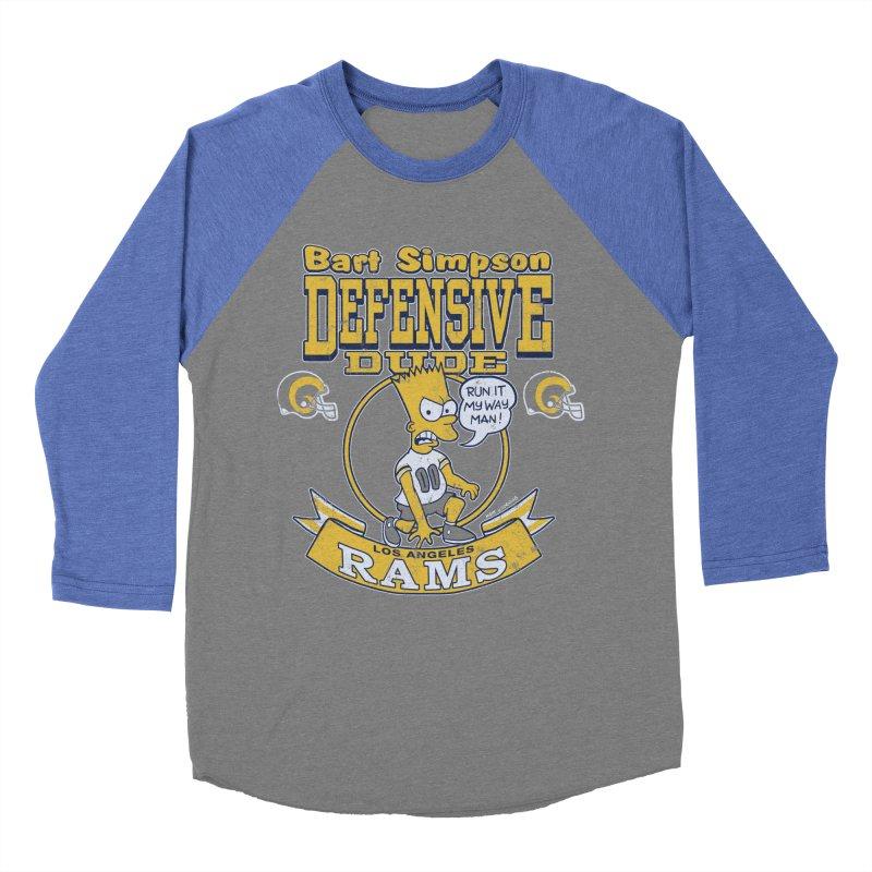 Bart + Rams Men's Baseball Triblend T-Shirt by jublin's Artist Shop