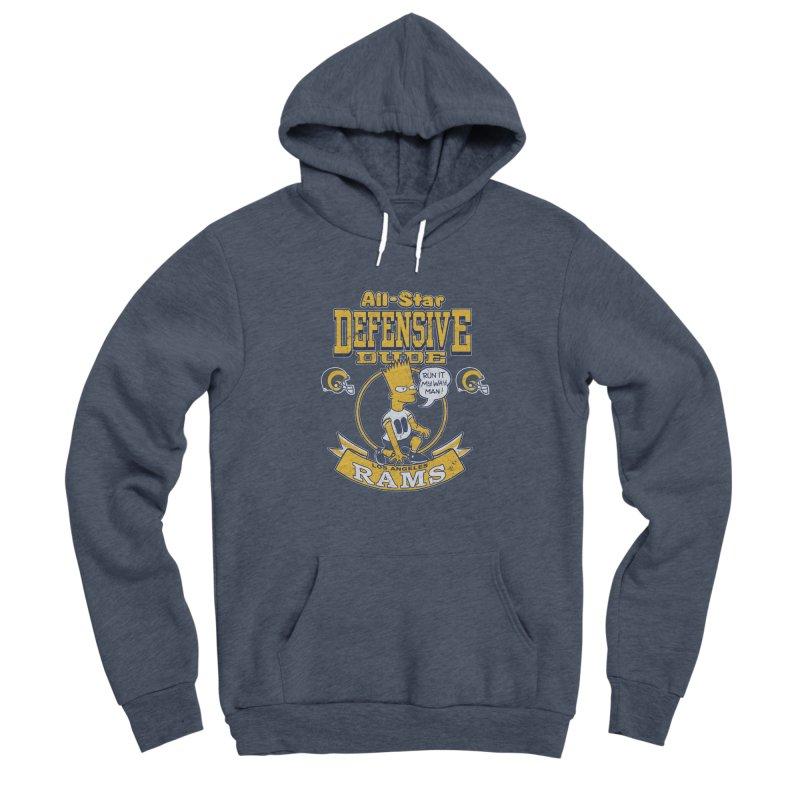 LA Defensive Dude Men's Sponge Fleece Pullover Hoody by jublin's Artist Shop