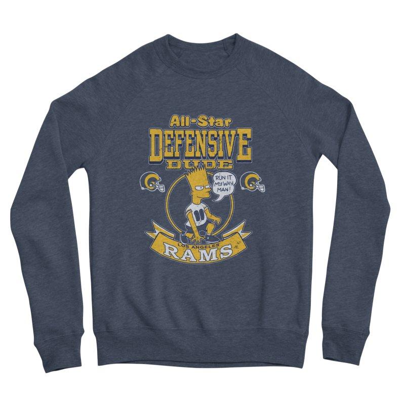 LA Defensive Dude Men's Sponge Fleece Sweatshirt by jublin's Artist Shop