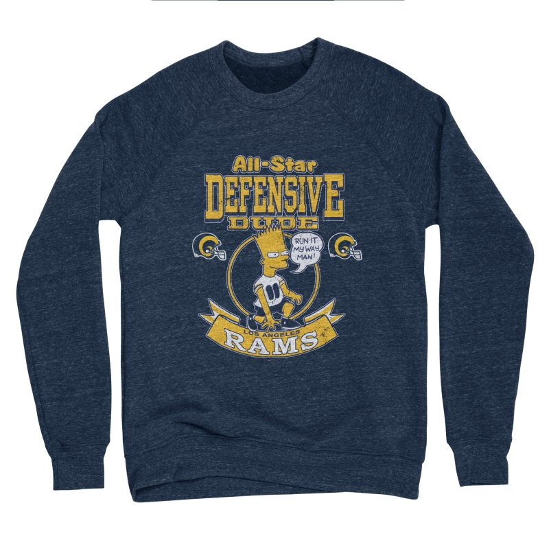LA Defensive Dude Men's Sponge Fleece Sweatshirt by jublin's Artist Shop