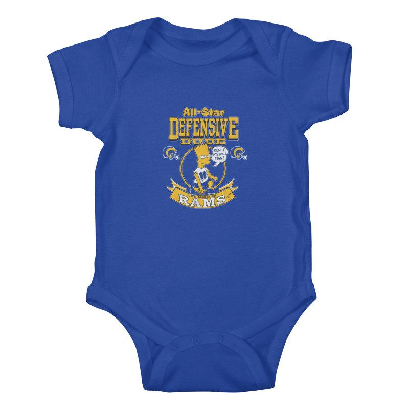 LA Defensive Dude Kids Baby Bodysuit by jublin's Artist Shop