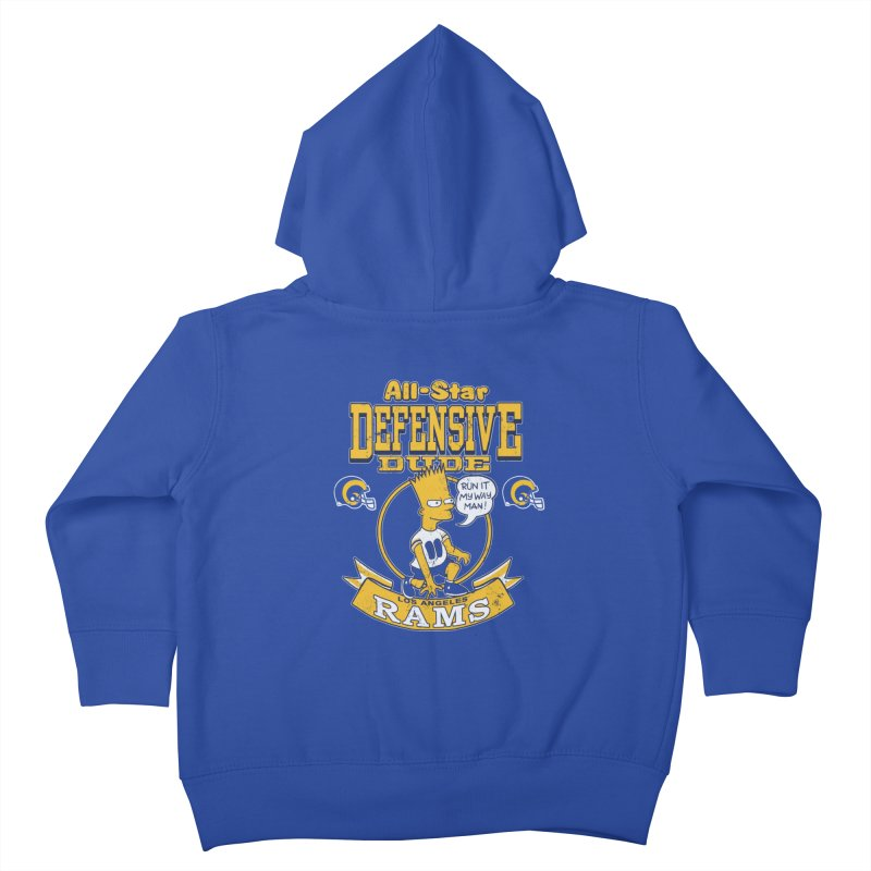 LA Defensive Dude Kids Toddler Zip-Up Hoody by jublin's Artist Shop