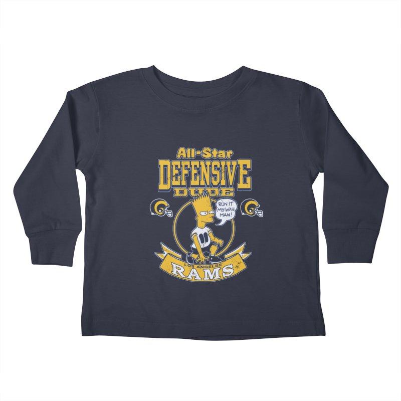 LA Defensive Dude Kids Toddler Longsleeve T-Shirt by jublin's Artist Shop