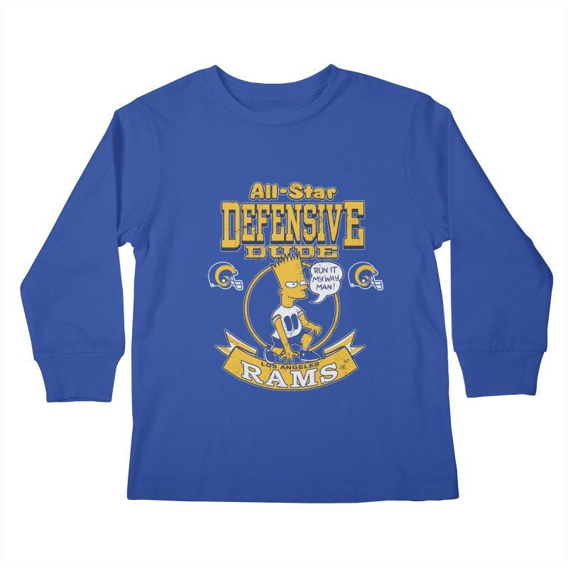 LA Defensive Dude Kids Longsleeve T-Shirt by jublin's Artist Shop