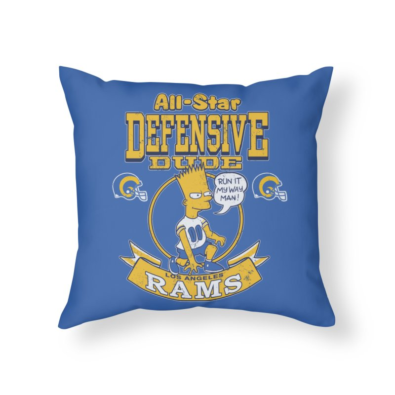 LA Defensive Dude Home Throw Pillow by jublin's Artist Shop