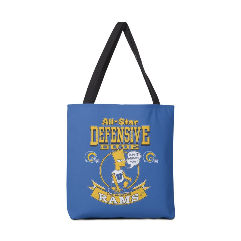 LA Defensive Dude Accessories Bag by jublin's Artist Shop