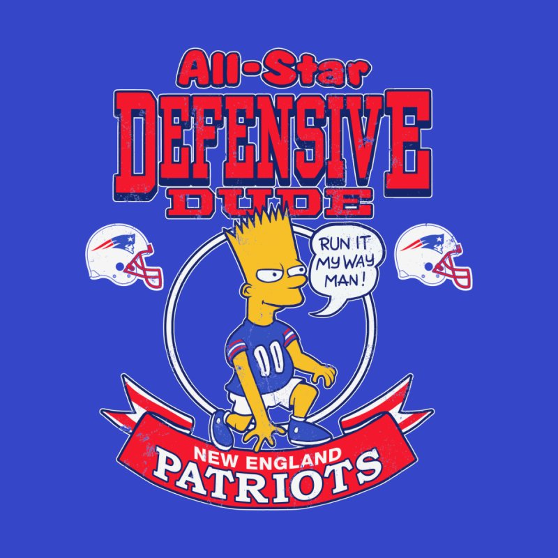 New England Defensive Dude Men's T-Shirt by jublin's Artist Shop