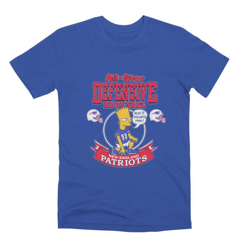 New England Defensive Dude Men's T-Shirt by jublin's Artist Shop