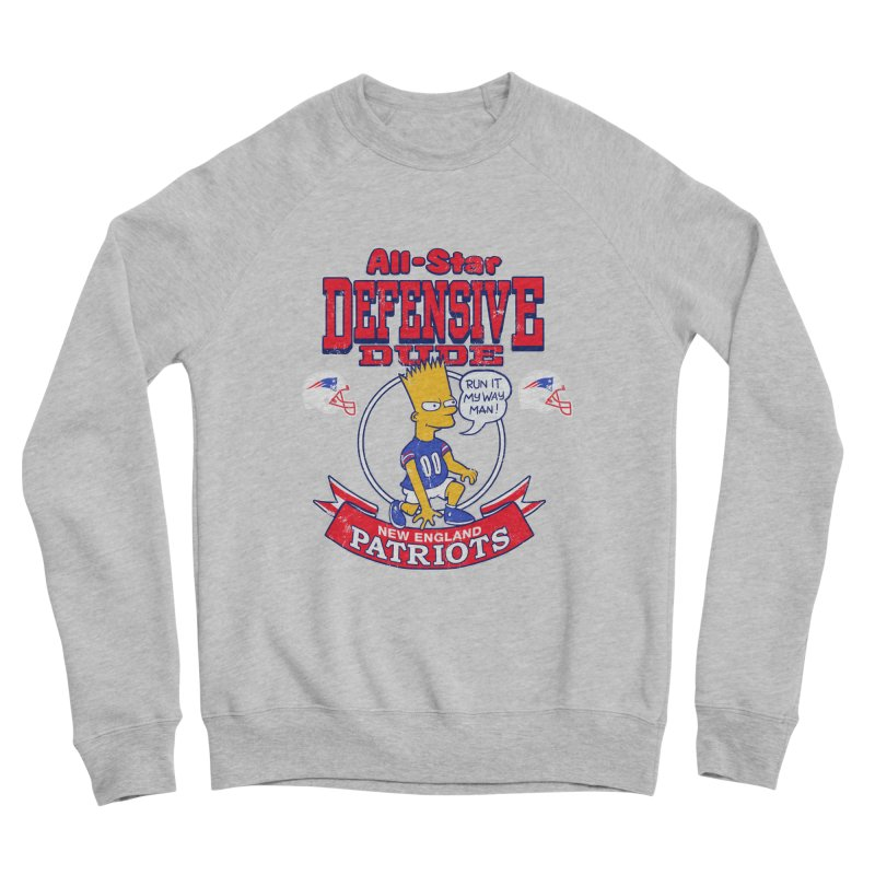 New England Defensive Dude Women's Sponge Fleece Sweatshirt by jublin's Artist Shop
