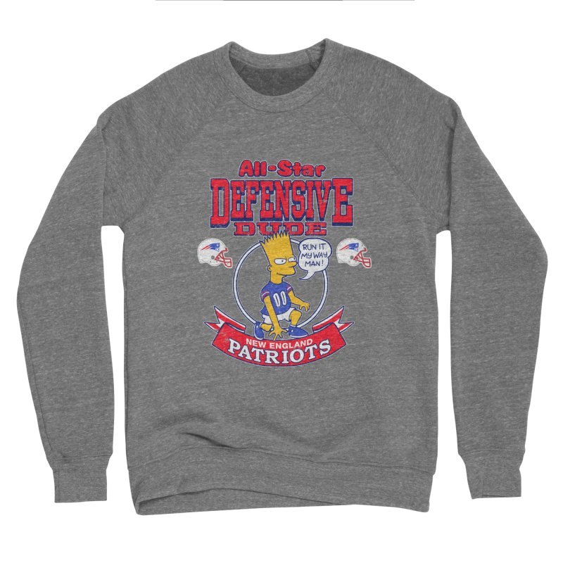 New England Defensive Dude Men's Sponge Fleece Sweatshirt by jublin's Artist Shop
