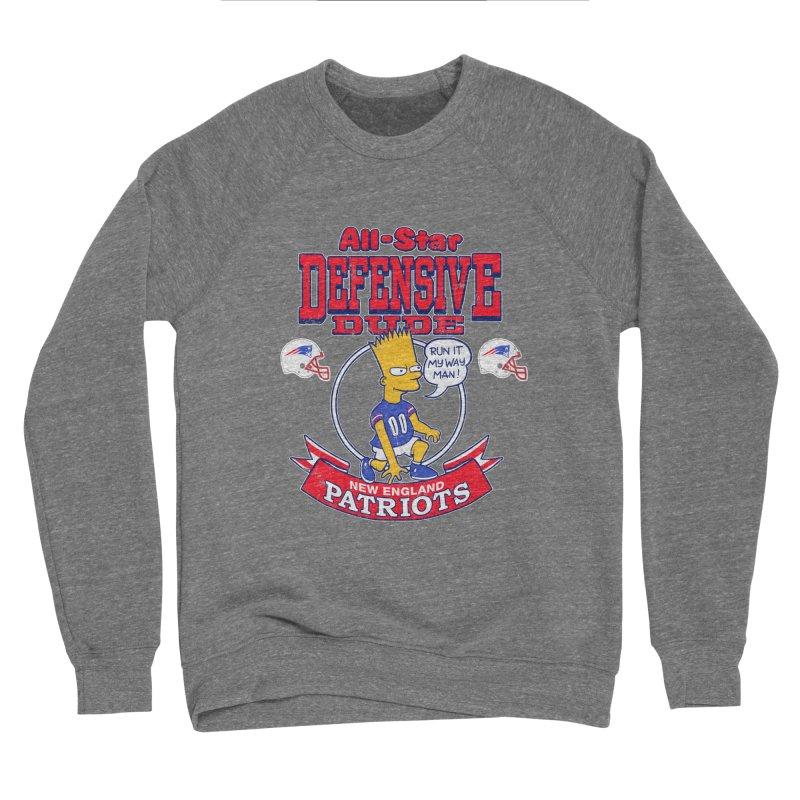 New England Defensive Dude Women's Sponge Fleece Sweatshirt by jublin's Artist Shop