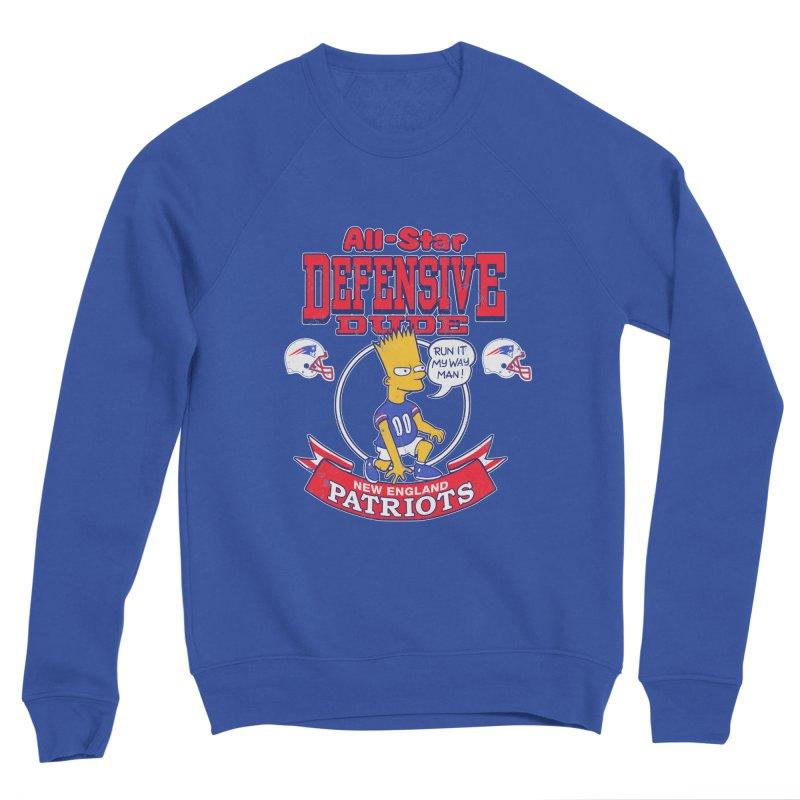 New England Defensive Dude Men's Sponge Fleece Sweatshirt by jublin's Artist Shop