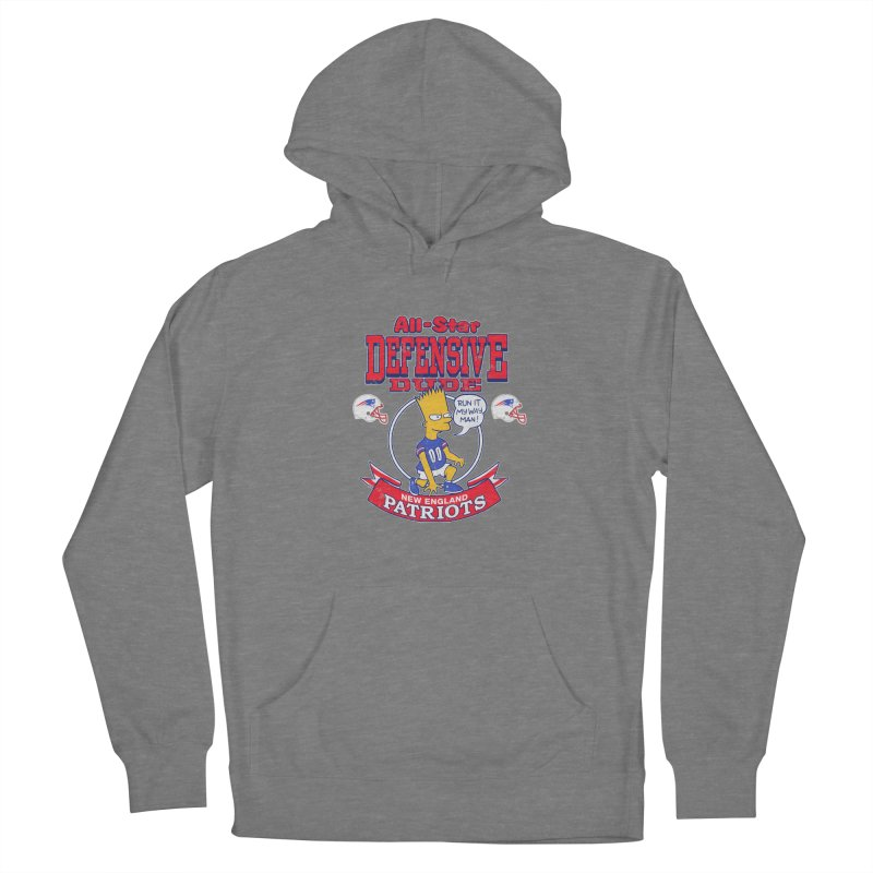 New England Defensive Dude Women's French Terry Pullover Hoody by jublin's Artist Shop