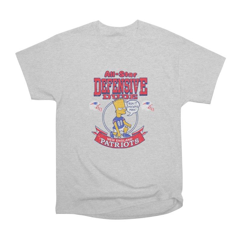 New England Defensive Dude Women's Heavyweight Unisex T-Shirt by jublin's Artist Shop