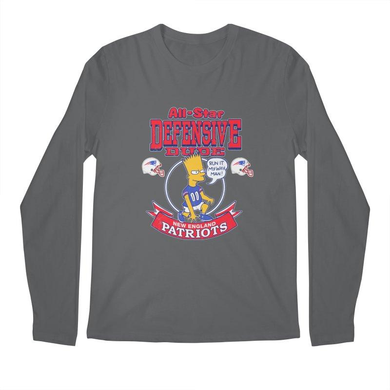 New England Defensive Dude Men's Regular Longsleeve T-Shirt by jublin's Artist Shop
