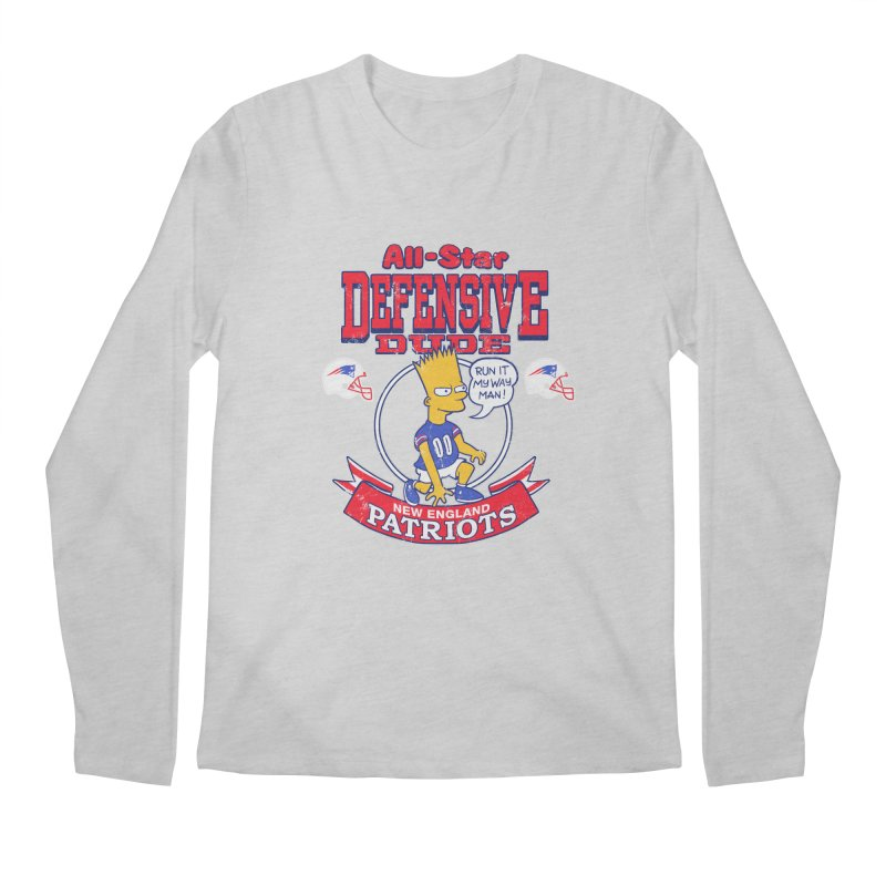 New England Defensive Dude Men's Regular Longsleeve T-Shirt by jublin's Artist Shop