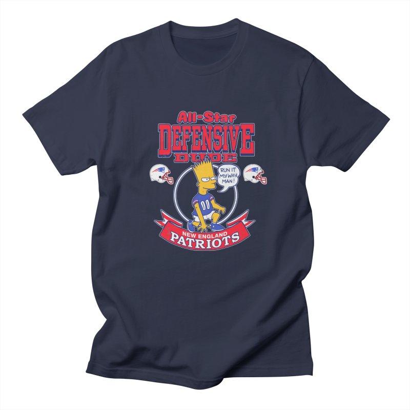 New England Defensive Dude Men's Regular T-Shirt by jublin's Artist Shop