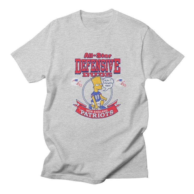 New England Defensive Dude Women's Regular Unisex T-Shirt by jublin's Artist Shop