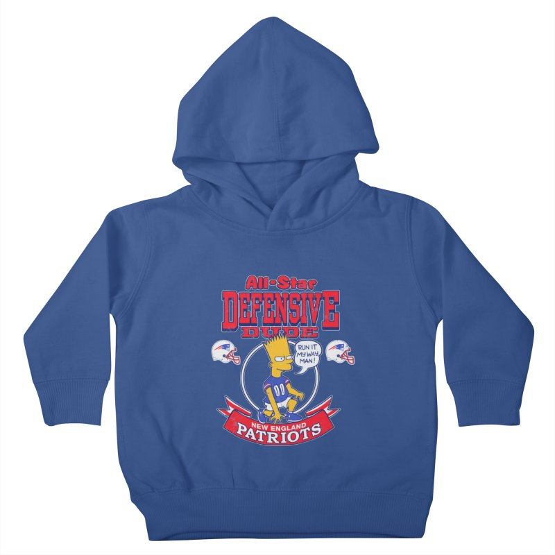New England Defensive Dude Kids Toddler Pullover Hoody by jublin's Artist Shop