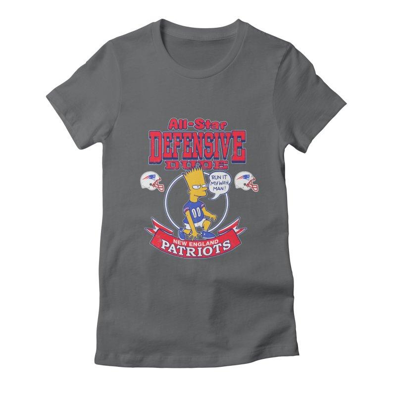 New England Defensive Dude Women's T-Shirt by jublin's Artist Shop