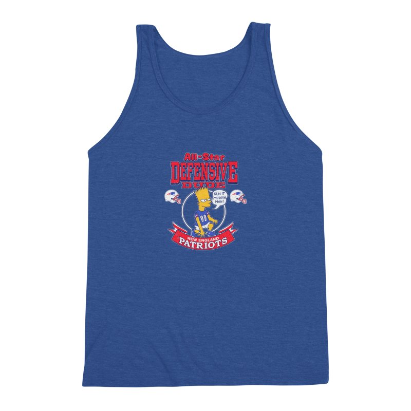New England Defensive Dude Men's Triblend Tank by jublin's Artist Shop