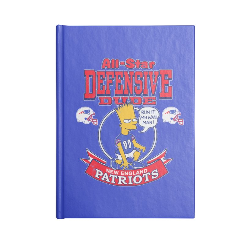 New England Defensive Dude Accessories Lined Journal Notebook by jublin's Artist Shop