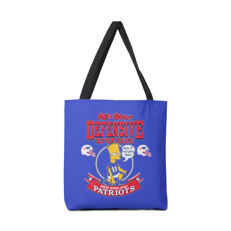 New England Defensive Dude Accessories Tote Bag Bag by jublin's Artist Shop