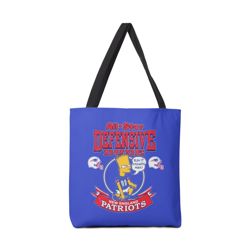 New England Defensive Dude Accessories Bag by jublin's Artist Shop