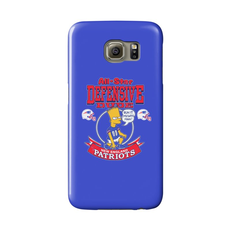 New England Defensive Dude Accessories Phone Case by jublin's Artist Shop