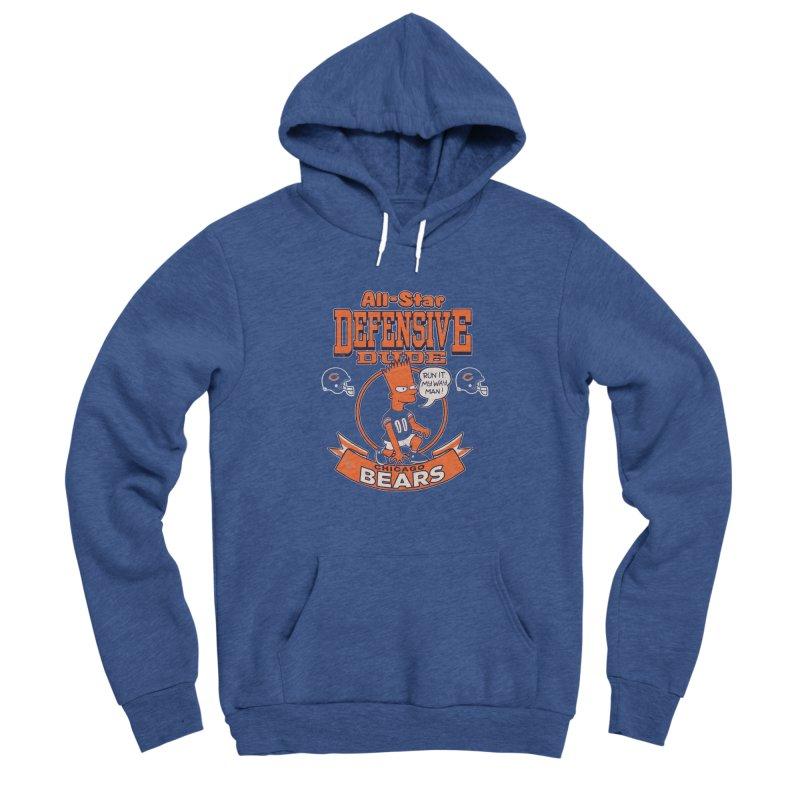 Chicago Defensive Dudes Men's Sponge Fleece Pullover Hoody by jublin's Artist Shop