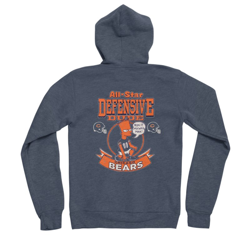 Chicago Defensive Dudes Men's Sponge Fleece Zip-Up Hoody by jublin's Artist Shop