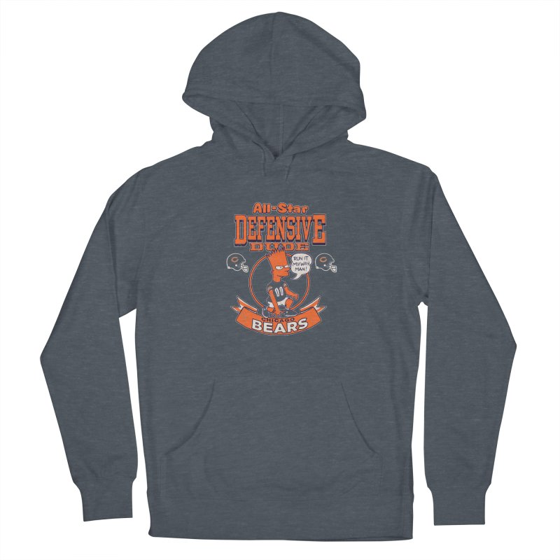 Chicago Defensive Dudes Men's French Terry Pullover Hoody by jublin's Artist Shop
