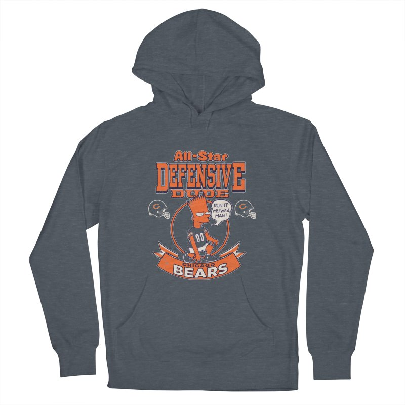 Chicago Defensive Dudes Women's French Terry Pullover Hoody by jublin's Artist Shop