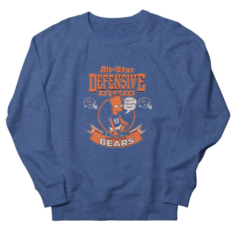 Chicago Defensive Dudes Women's French Terry Sweatshirt by jublin's Artist Shop