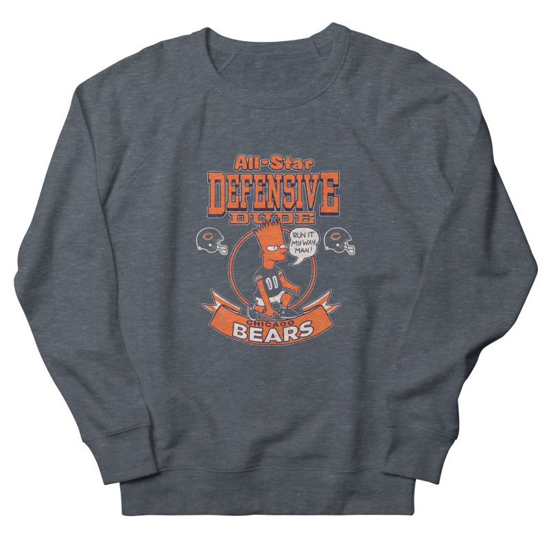 Chicago Defensive Dudes Men's French Terry Sweatshirt by jublin's Artist Shop